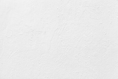 Fototapeta Old cement wall painted white texture and seamless background
