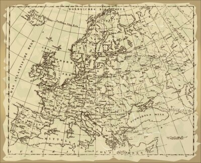 Fototapeta Old Europe Map