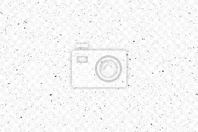 Fototapeta Old grunge black texture. Dark weathered overlay pattern sample on transparent background. Screen background. Vector.
