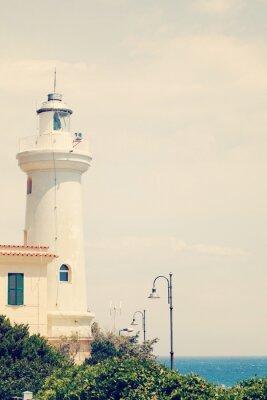 Fototapeta Old lighthouse. Italy, Lazio, San Felice Circeo