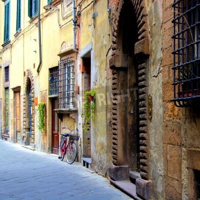 Fototapeta Old medieval street in Tuscany, Italy