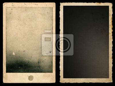 Fototapeta Old paper photo frames Used vintage cardboard