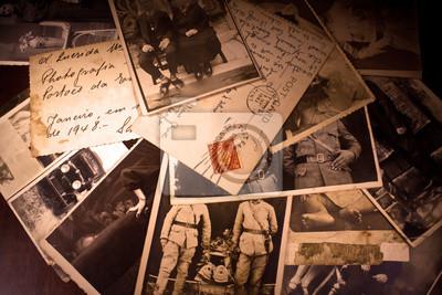Fototapeta old photos and postcard (1940-1945)