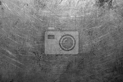 Fototapeta Old scratched steel texture