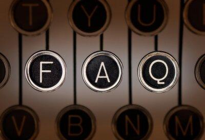 Fototapeta Old Style FAQ