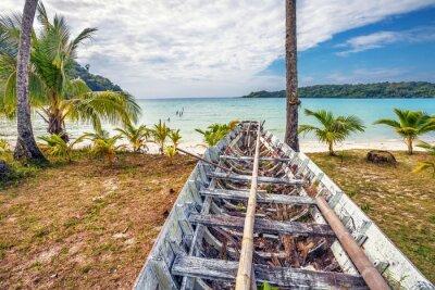 Fototapeta Old Thai łodzi na plaży