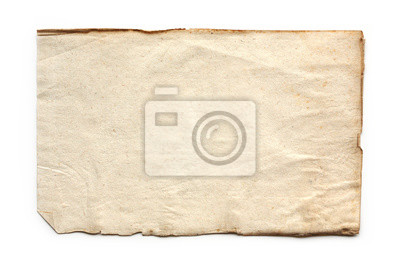 Fototapeta old, vintage paper background isolated on white