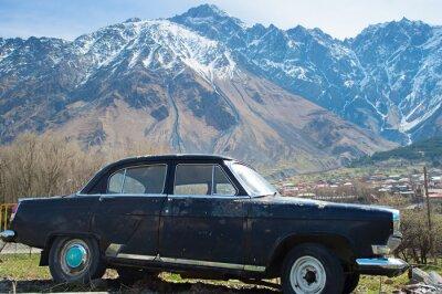 Fototapeta Old Volga car, Georgia
