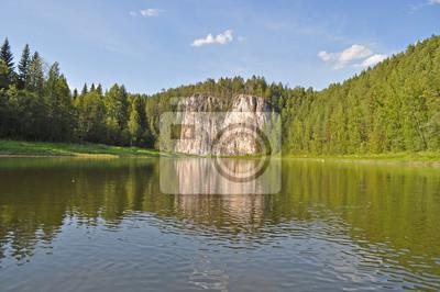 Oleniy skalny na rzece Chusovaya