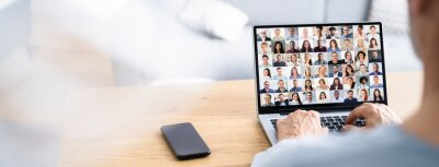 Fototapeta Online Video Conference Webinar