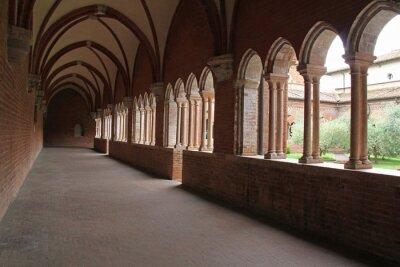 Fototapeta Opactwo Chiaravalle della Colomba; Portico del Chiostro