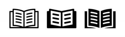 Fototapeta Open book icon vector graphic illustration. Textbook symbol