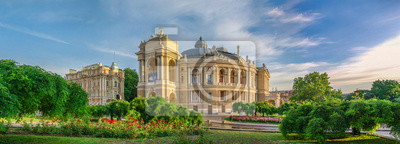 Fototapeta Opera House and theatre square in Odessa, UA