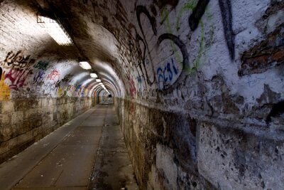 Fototapeta opuszczony tunel