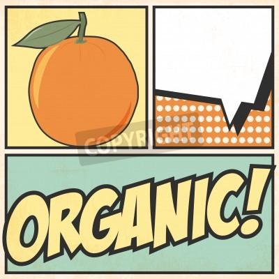 Fototapeta organic pop art, illustration in vector format