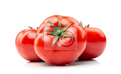 Fototapeta Organicznych pomidorów na białym ..
