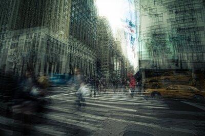 Fototapeta Original artist graphic New York City street scene photo manipulation