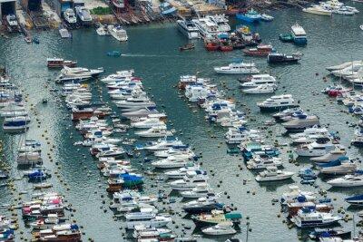 Fototapeta Osłonięte Harbour z widoku z góry