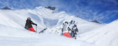 Fototapeta Ośrodek narciarski