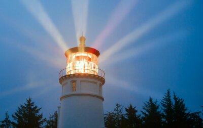 Fototapeta Oświetlenie Do latarni Belki morskie morskiego burza deszcz