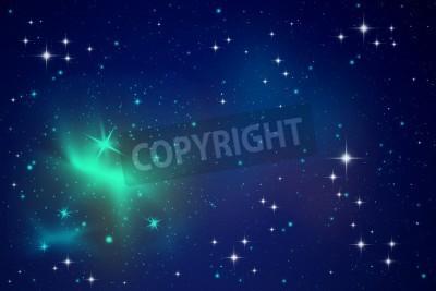 Fototapeta Oświetlenie w gwiazdek nocnym niebie