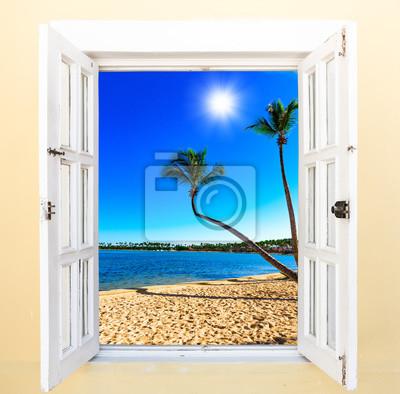 Fototapeta otwarte okno do morza