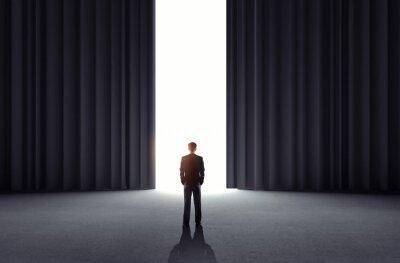 Fototapeta otwierając drzwi do teatru