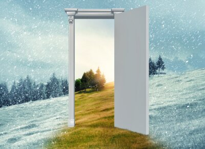 Fototapeta Otwórz drzwi do innego sezonu