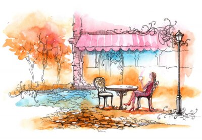 Fototapeta outdoor restaurant