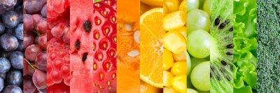 Fototapeta Owoce i warzywa w tle