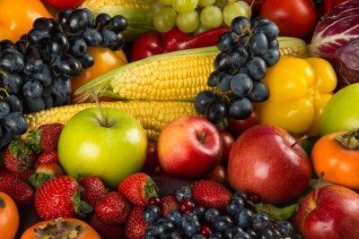 Fototapeta Owoce, warzywa, zdrowe odżywianie.