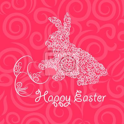 Ozdobne karty z Easter rabbit