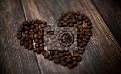 Pachnący kawy serce