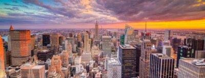 Fototapeta Paesaggio di Citta di New York con grattaciel
