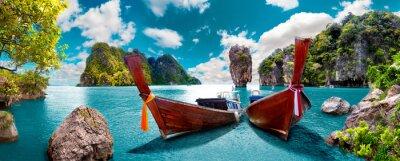 Fototapeta Paisaje pintoresco de Tailandia. Wyspy Egejskie w Phuket. Viajes y aventuras por Azji