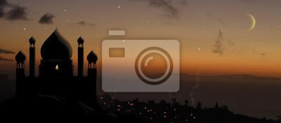 Fototapeta pałac aladynów o zachodzie słońca