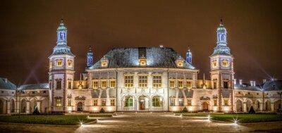 Fototapeta Pałac Biskupi w nocy w Kielcach