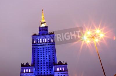 Fototapeta Pałac Kultury i Nauki w Warszawie w Polsce