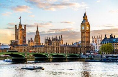 Fototapeta Pałac Westminsterski w Londynie w godzinach wieczornych - Anglia