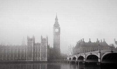 Fototapeta Pałac Westminsterski w mgle