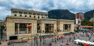 Fototapeta Palace of Justice Bogota City, drone view