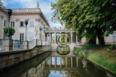 Fototapeta Palace on the water in Lazienki park (Royal Baths park) on Warsaw, Poland