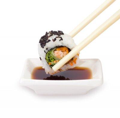 Fototapeta Pałeczki z sushi na białym tle