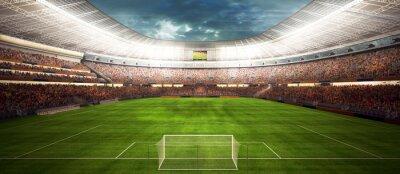 Fototapeta panaram widok wewnątrz nożnej Stadio - Fussballstadion panorama vor Spielbeginn