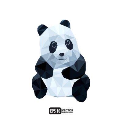 Fototapeta panda polygon.