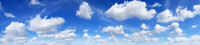 Fototapeta Panorama - Blue sky and white clouds