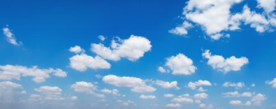 panorama blue sky with white cloud background nature view