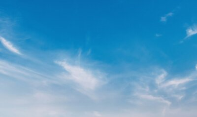 panorama blue sky with white cloud view nature