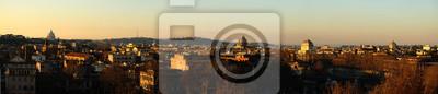 Fototapeta Panorama, Città, Rzym, Panoramica,