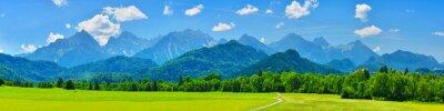 Fototapeta Panorama gór lato, Schwangau, Niemcy